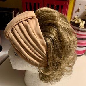 Cute little mixed blonde headband hairpiece